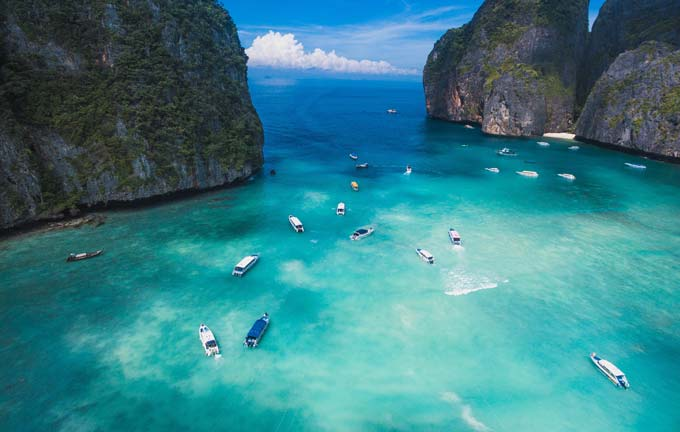 Phi Phi Islands mit dem Speedboot, Thailand